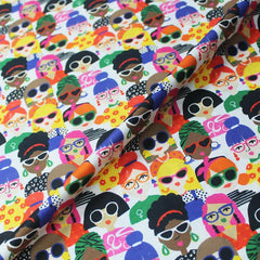 people in spectacles novelty print