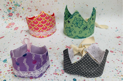 Crafty Sew and Sew Fabric Crowns