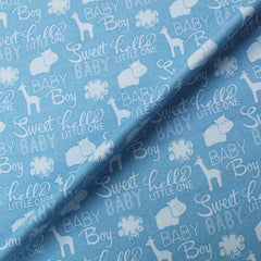 Blue Baby Quilt fabric
