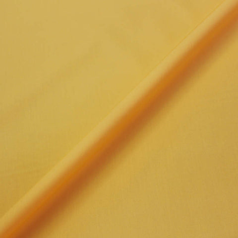 Plain Yellow Cotton Poplin - Egg Yolk