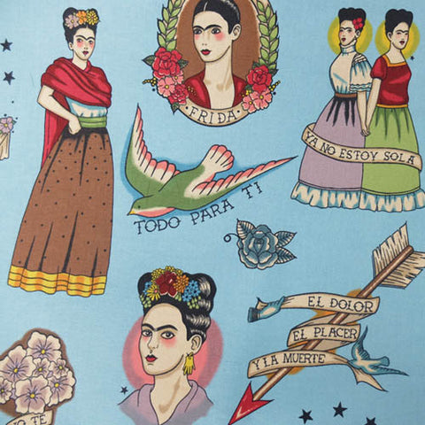 Todo Para Ti - Frida Kahlo Cotton by Alexander Henry