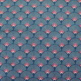 Home Furnishing Art Deco Fans - Blue and Pink