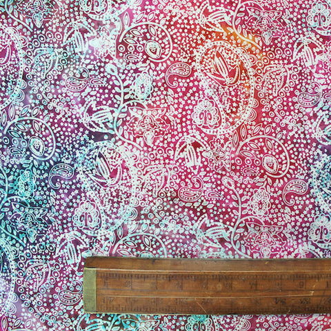 Batik Cotton - Blue Cheer - Pinks