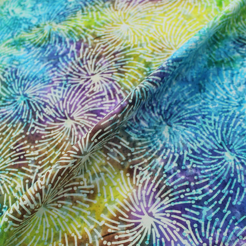 Batik Cotton - King Crimson - Purples/Greens