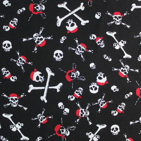 Printed Novelty Black Cotton - The Queen Anne's Revenge