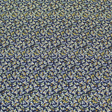 Blue Printed Viscose - Water Meadow Flowers
