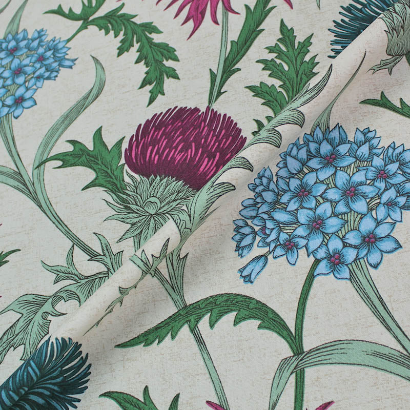 Bright Large Thistle Home Furnishing Fabric
