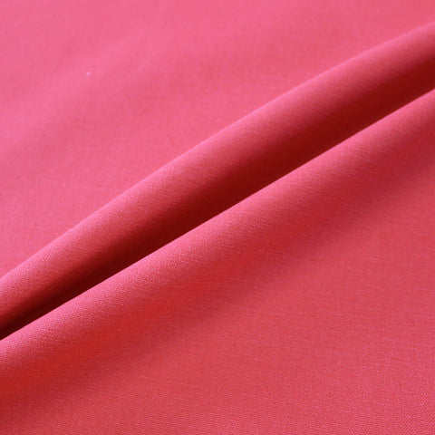 Home Furnishing Fabric Brushed Panama Weave - Ruby Red