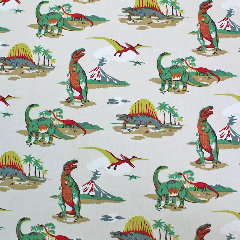 Cath Kidston Home Furnishing Fabric Dino in Multi