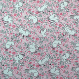 Cath Kidston Home Furnishing Fabric Jumping Bunnies in Blush