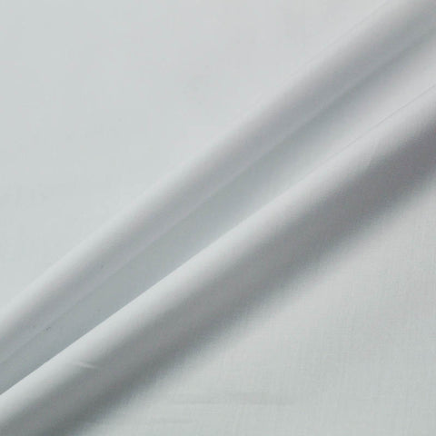 Pure White Plain Cotton Poplin