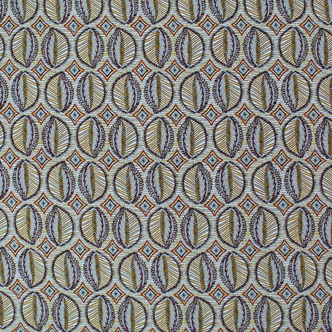Printed Spun Viscose Constance in Mustard Yellow