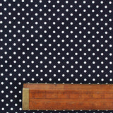 Cotton Corduroy Polka Dot - Deepest Navy