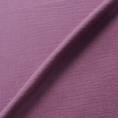 Cotton Double Gauze  - Mulberry
