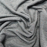 Cotton Elastane Brushed Backed Sweatshirt - Speckled Grey