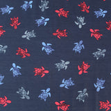 Cotton Elastane Jersey - Deep Sea Turtle - Blue/Red