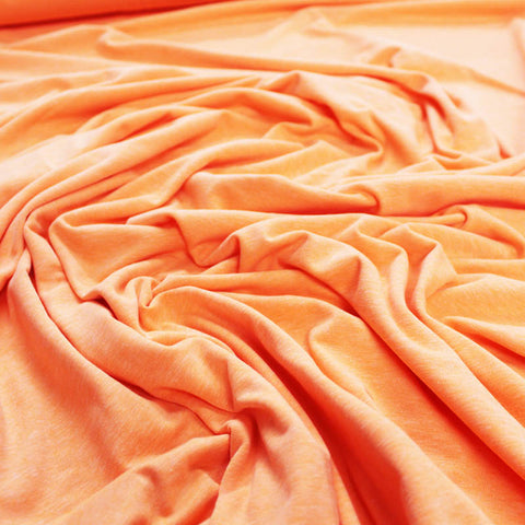 Cotton Elastane Jersey - Plain - Neon Orange