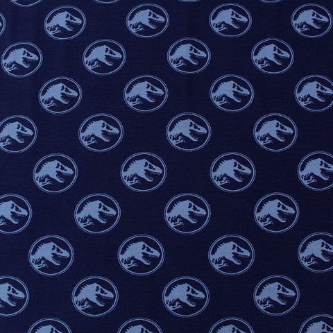 Cotton Elastane Jersey - The Jurassic Period. - Blue