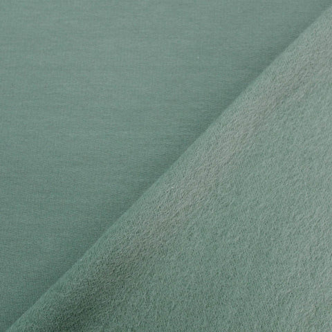 Cotton Elastane Fleece Backed Sweatshirt - Sage Green