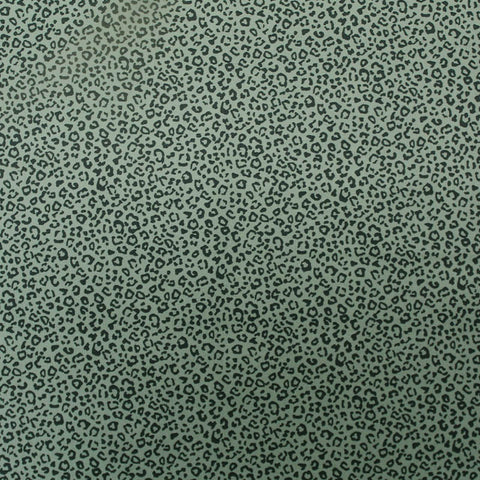 Cotton Leopard Print Fabric - Khaki