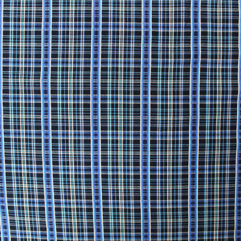 Embroidered Colourwoven Check - Black/Blue
