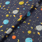 Cotton Rich Elastane Jersey - Can You See Pluto - Denim Blue Marl