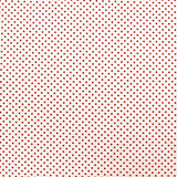 Printed Polka Dot Cotton - Cream with Red Spots