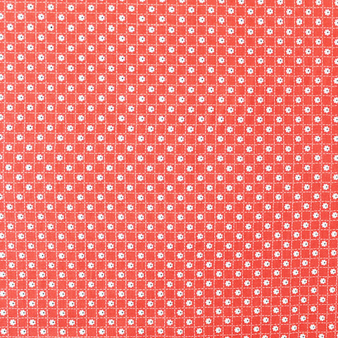 Printed Floral Cotton - Coral Daisy Tile