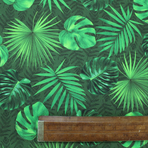 Digital Print Dralon Outdoor Fabric - Big Green Palms