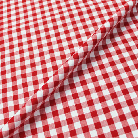 Dressmaking Cotton Gingham - Wide Width - Red and White
