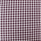 Dressmaking Cotton Gingham - Wide Width - Aubergine and White