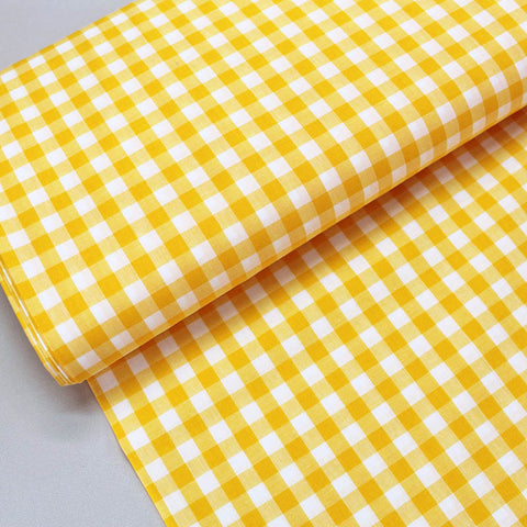 Dressmaking Cotton Gingham - Wide Width - Sunshine Yellow and White