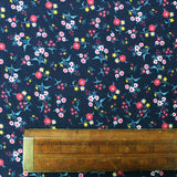 Dressmaking Floral Cotton Corduroy - Navy - Margo
