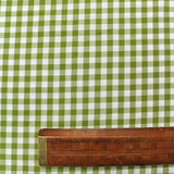 Dressmaking Gingham - Olive Green and White