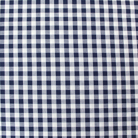 Dressmaking Cotton Gingham - Wide Width - Navy and White