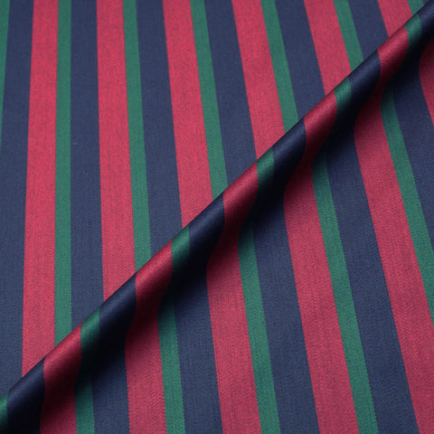 Dressmaking Traditional Blazer Stripe - Red, Navy and Bottle Green
