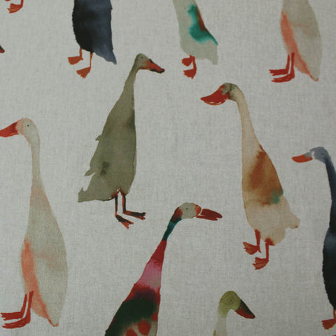 Home Furnishing Linen Look - Ducks in a Row