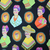 Fantastico Frida! Cotton by Alexander Henry - Black