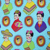 Fantastico Frida! Cotton by Alexander Henry - Blue