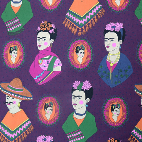 Fantastico Frida! Cotton by Alexander Henry - Purple