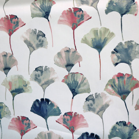 Ginkgo Leaf Home Furnishing Fabric - Pinks and Blues