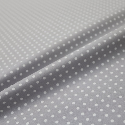Polka Dot Cotton - Silver Grey