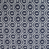 Indigo Geometric Woven Jacquard Home Furnishing