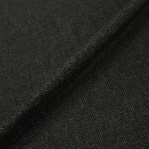 Herringbone Tweed Wool  - One's Club - Brown