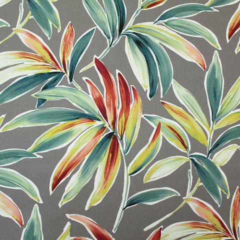 Banana Leaves Home Furnishing Fabric with a Hint of Orange - Jungle