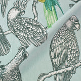Bird Perch Home Furnishing Fabric - Minty Blue