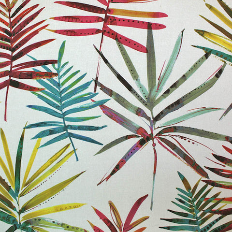 Jurassic Ferns Home Furnishing Rumba - Reds and Greens