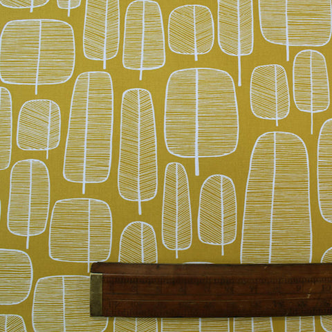 Home Furnishing Cotton - MissPrint Collection - Little Trees Yellow