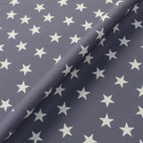 Home Furnishing Cotton - Pretty Storm Grey - White Star
