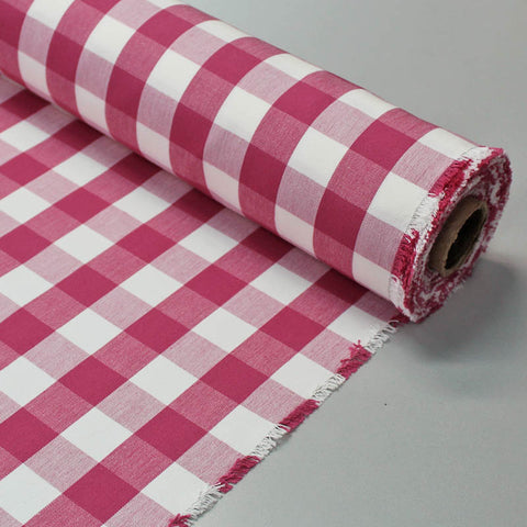 Home Furnishing Indian Cotton Gingham - Red and White